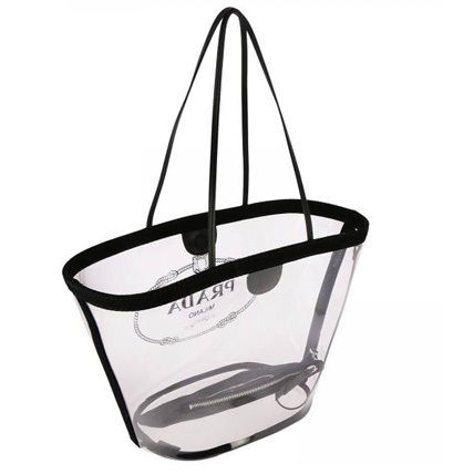 PRADA Totes Casual Style Blended Fabrics Plain Crystal Clear Bags 8