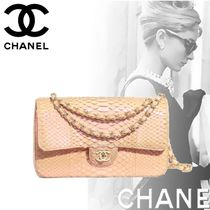 CHANEL Crocodile Chain Python Elegant Style Handbags