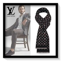 Louis Vuitton Monogram Wool Blended Fabrics Scarves
