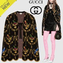 GUCCI Short Flower Patterns Wool Other Animal Patterns