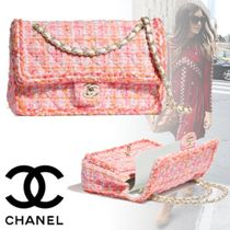 CHANEL Other Check Patterns Blended Fabrics 2WAY Chain