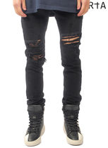 RtA Street Style Plain Cotton Skinny Fit Jeans & Denim