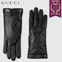 GUCCI Gucci Signature Leather Gloves Gloves