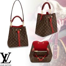 Louis Vuitton MONOGRAM Monogram 3WAY Leather Elegant Style Handbags