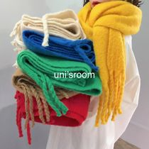 Unisex Plain Fringes Heavy Scarves & Shawls
