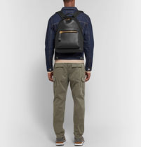 TOM FORD Casual Style Plain Leather Logo Backpacks