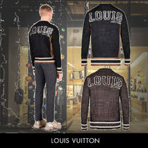 Louis Vuitton Cable Knit Silk V-Neck Long Sleeves Plain Special Edition