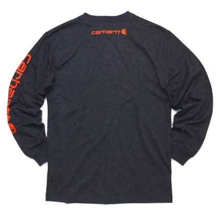 Carhartt Long Sleeve Crew Neck Street Style Long Sleeves Oversized 2