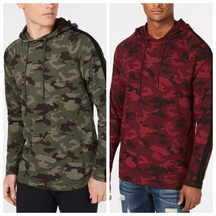Pullovers Camouflage Street Style Long Sleeves Cotton