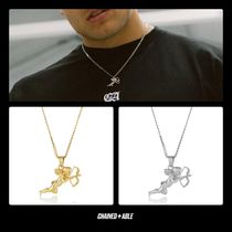 Chained & Able Unisex Street Style Chain Plain Silver Necklaces & Chokers