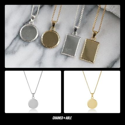 Unisex Street Style Chain Silver Necklaces & Chokers