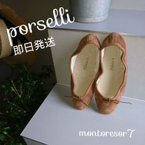 PORSELLI Suede Plain Handmade Ballet Shoes