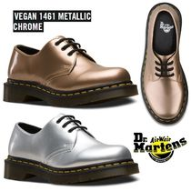 Dr Martens VEGAN Round Toe Rubber Sole Casual Style Blended Fabrics Plain