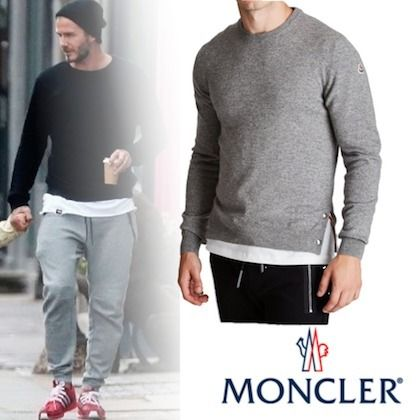 MONCLER Knits & Sweaters Crew Neck Cashmere Long Sleeves Plain Knits & Sweaters