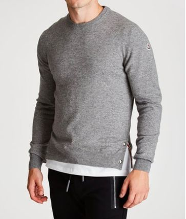 MONCLER Knits & Sweaters Crew Neck Cashmere Long Sleeves Plain Knits & Sweaters 2