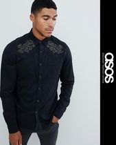 ASOS Denim Studded Street Style Long Sleeves Knits & Sweaters