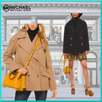 Michael Kors Plain Medium Elegant Style Peacoats