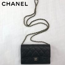 CHANEL TIMELESS CLASSICS Unisex Calfskin Plain Party Style Shoulder Bags