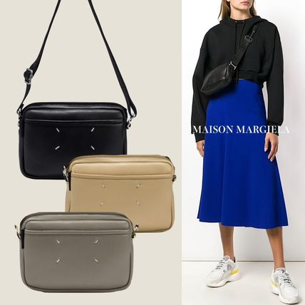 Street Style Plain Leather Elegant Style Shoulder Bags