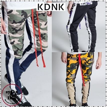 Camouflage Street Style Cotton Skinny Fit Pants