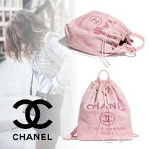 CHANEL Casual Style Calfskin Plain Backpacks