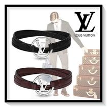 Louis Vuitton Bangles Unisex Plain Leather Bold Bracelets