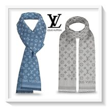 Louis Vuitton Monogram Blended Fabrics Cotton Scarves