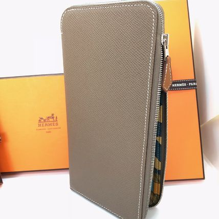 HERMES Long Wallets Plain Leather Home Party Ideas Long Wallets 3