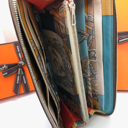 HERMES Long Wallets Plain Leather Home Party Ideas Long Wallets 5