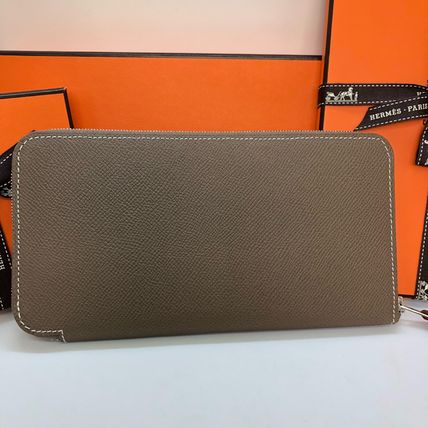 HERMES Long Wallets Plain Leather Home Party Ideas Long Wallets 7