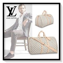 Louis Vuitton Other Check Patterns Canvas Blended Fabrics A4 Boston Bags