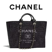 CHANEL Calfskin 2WAY Elegant Style Totes