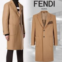 FENDI Wool Long Chester Coats