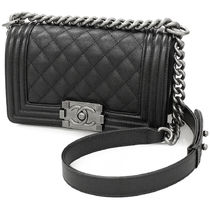 CHANEL BOY CHANEL Casual Style Plain Leather Shoulder Bags
