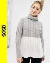 ASOS Cable Knit Casual Style Long Sleeves Knitwear