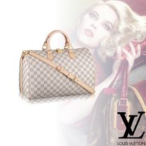 Louis Vuitton DAMIER AZUR 2WAY Leather Elegant Style Handbags