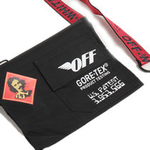 Off-White Unisex Street Style Collaboration Messenger & Shoulder Bags