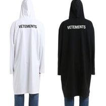 VETEMENTS Unisex Street Style Plain Long Oversized Coats