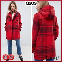 ASOS Other Check Patterns Casual Style Duffle Coats