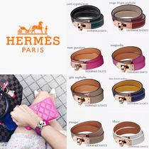 HERMES Kelly Leather Bracelets