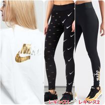 Nike Crew Neck Casual Style Tight Street Style Long Sleeves