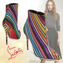 Christian Louboutin So Kate Stripes Suede Plain Pin Heels Party Style