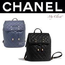 CHANEL ICON Casual Style Calfskin Street Style 2WAY Chain Plain