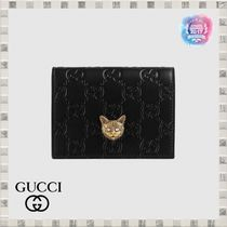 GUCCI Gucci Signature Leather Card Holders
