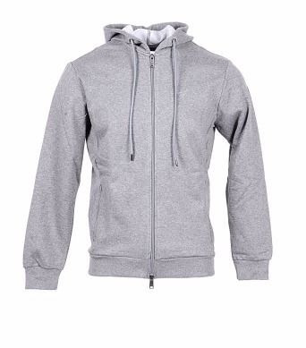 Blended Fabrics Long Sleeves Plain Cotton Hoodies