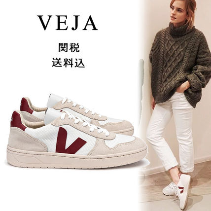 Round Toe Rubber Sole Lace-up Casual Style Unisex Plain