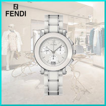 FENDI Round Quartz Watches Stainless Elegant Style Analog Watches