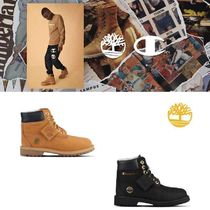 Timberland Street Style Collaboration Plain Leather Shoes