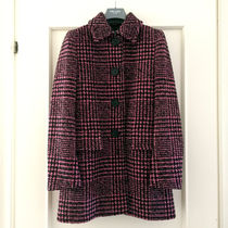 PRADA Glen Patterns Zigzag Wool Medium Elegant Style Peacoats