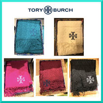 Tory Burch Wool Plain Fringes Bold Heavy Scarves & Shawls